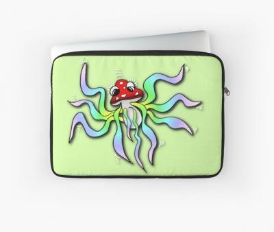 Fliegenpilz Qualle Laptoptasche