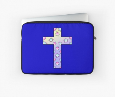 Kreuz Happy Dots Laptoptasche