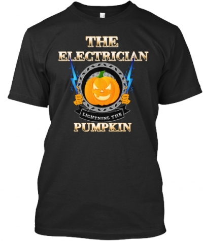 Electrician Lightning Pumpkin T-Shirt