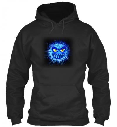 Monster in Blau Hoodie