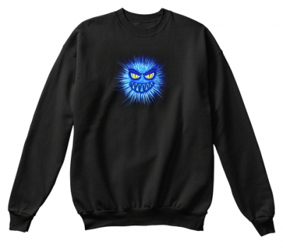 Monster in Blau Sweatshirt