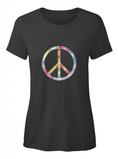 Peace zeichen bunt T-Shirt