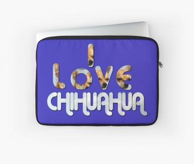 Ich Liebe Chihuahua Laptoptasche