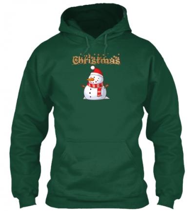 Schneemann für Weihnachten Hoodie