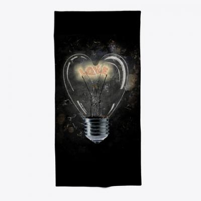 Love Light  Duschhandtuch