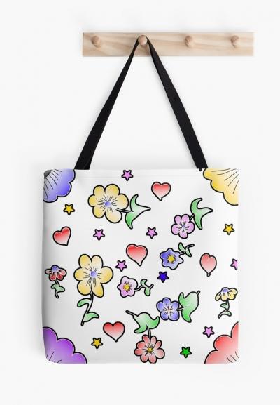 Blumen Fun Tasche