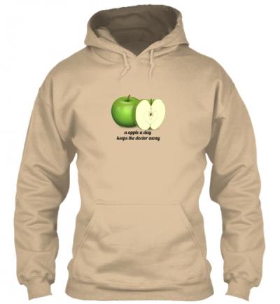 Apfel ist gesund Hoodie