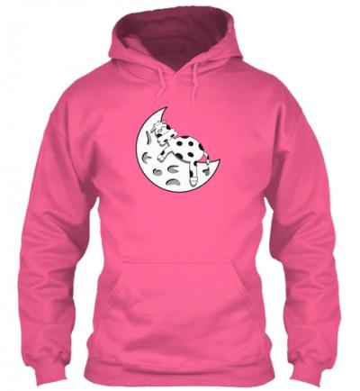 Kuh auf dem Mond  Hoodie