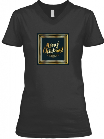 Merry Christmas Gold T-Shirt