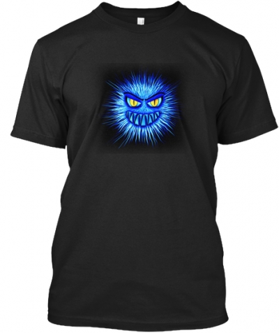 Monster in Blau T-Shirt