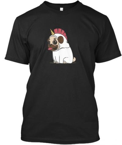 Mops Einhorn   T-Shirt