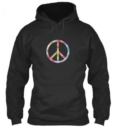 Peace zeichen bunt Hoodie