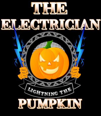 Electrician Lightning Pumpkin T-Shirt